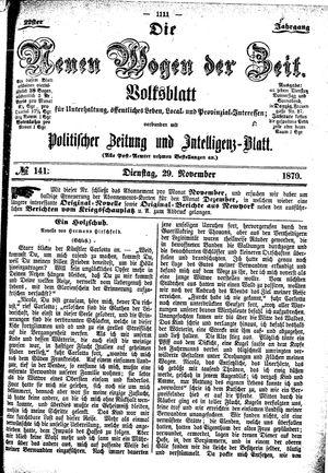 Neue Wogen der Zeit vom 29.11.1870