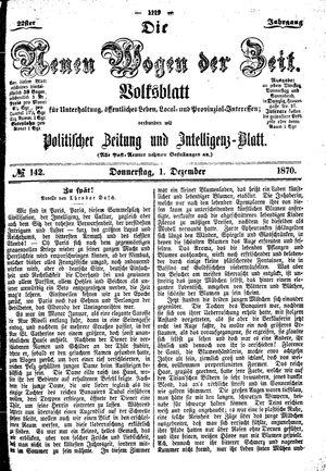 Neue Wogen der Zeit vom 01.12.1870