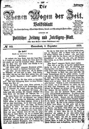 Neue Wogen der Zeit vom 03.12.1870