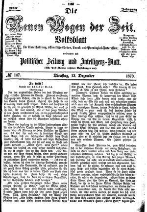 Neue Wogen der Zeit vom 13.12.1870