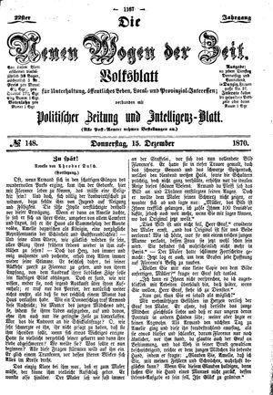 Neue Wogen der Zeit vom 15.12.1870