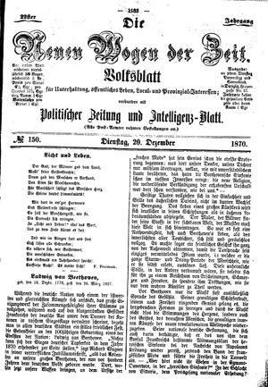 Neue Wogen der Zeit vom 20.12.1870