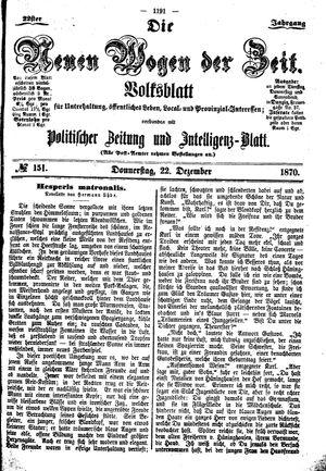 Neue Wogen der Zeit vom 22.12.1870