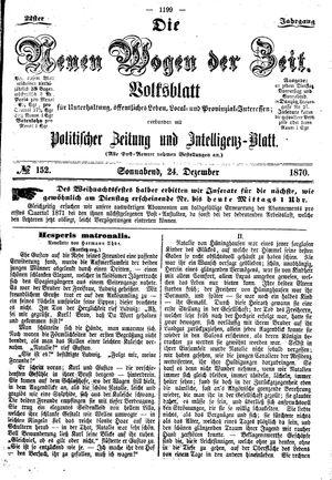 Neue Wogen der Zeit vom 24.12.1870