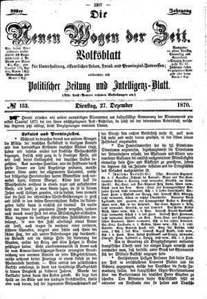 Neue Wogen der Zeit vom 27.12.1870