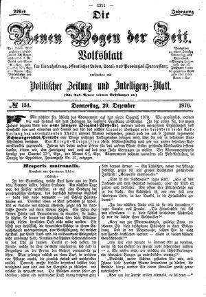 Neue Wogen der Zeit vom 29.12.1870