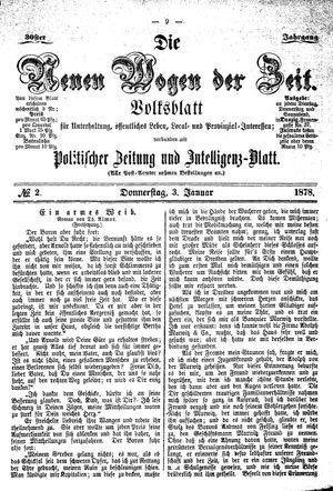 Neue Wogen der Zeit vom 03.01.1878