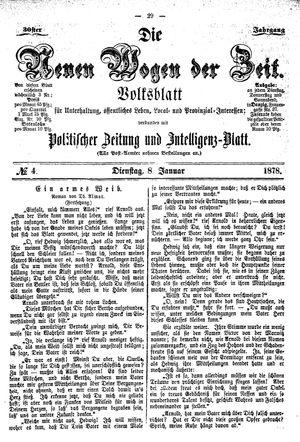 Neue Wogen der Zeit vom 08.01.1878