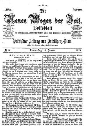 Neue Wogen der Zeit vom 10.01.1878