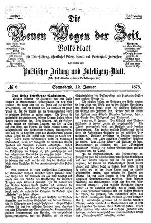 Neue Wogen der Zeit vom 12.01.1878