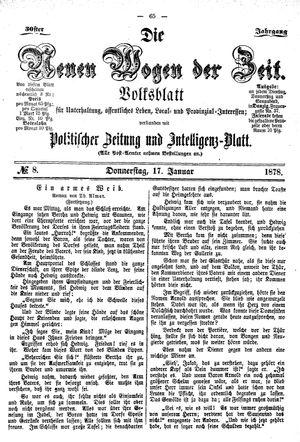 Neue Wogen der Zeit vom 17.01.1878