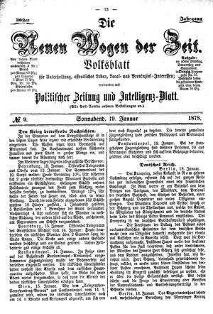 Neue Wogen der Zeit vom 19.01.1878