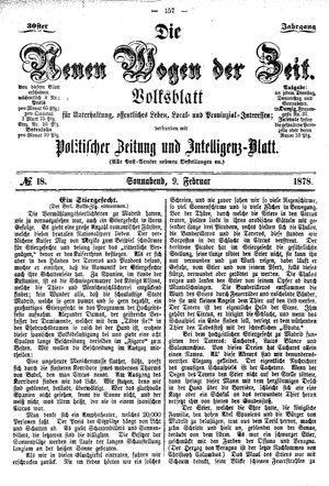 Neue Wogen der Zeit vom 09.02.1878