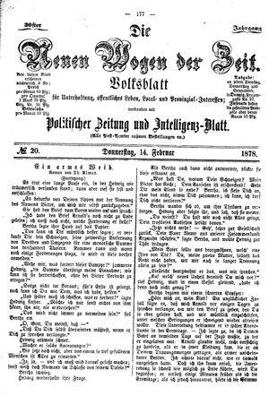Neue Wogen der Zeit vom 14.02.1878