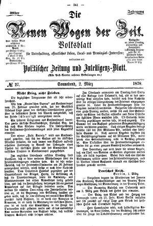 Neue Wogen der Zeit vom 02.03.1878