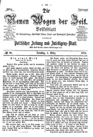 Neue Wogen der Zeit on Mar 5, 1878