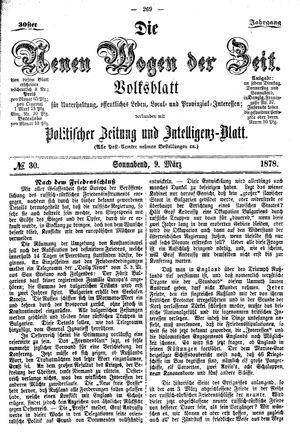 Neue Wogen der Zeit vom 09.03.1878