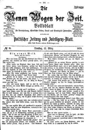 Neue Wogen der Zeit on Mar 12, 1878