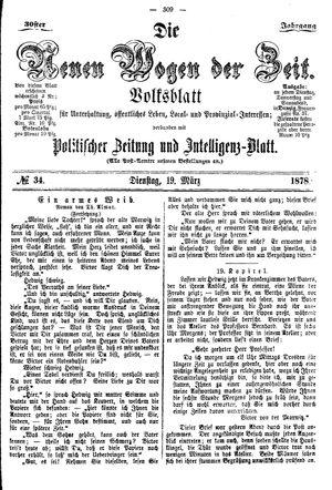 Neue Wogen der Zeit vom 19.03.1878