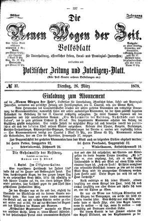 Neue Wogen der Zeit vom 26.03.1878