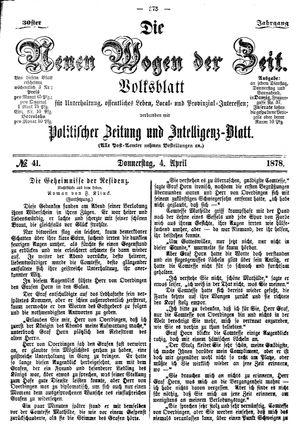 Neue Wogen der Zeit vom 04.04.1878