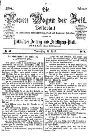 Neue Wogen der Zeit on Apr 11, 1878