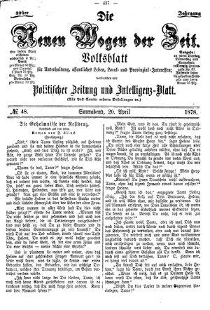 Neue Wogen der Zeit vom 20.04.1878