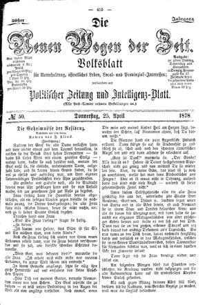 Neue Wogen der Zeit vom 25.04.1878