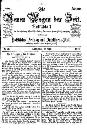 Neue Wogen der Zeit vom 02.05.1878