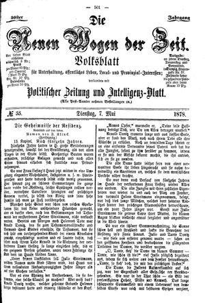 Neue Wogen der Zeit vom 07.05.1878