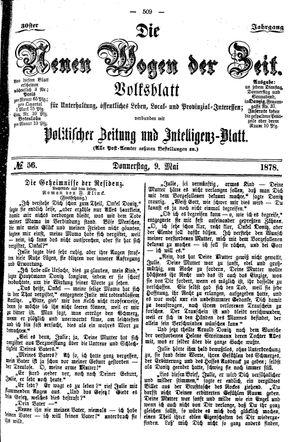 Neue Wogen der Zeit vom 09.05.1878