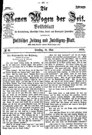 Neue Wogen der Zeit vom 21.05.1878