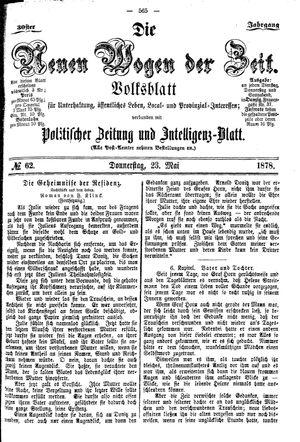 Neue Wogen der Zeit vom 23.05.1878