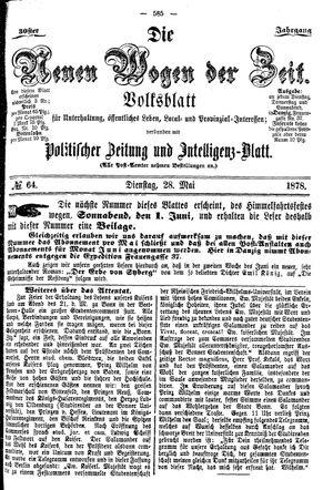 Neue Wogen der Zeit vom 28.05.1878
