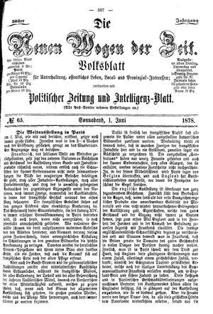 Neue Wogen der Zeit on Jun 1, 1878