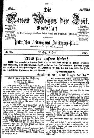 Neue Wogen der Zeit vom 04.06.1878
