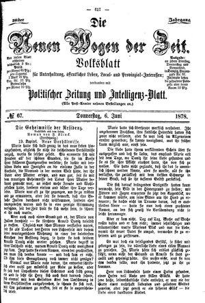 Neue Wogen der Zeit vom 06.06.1878