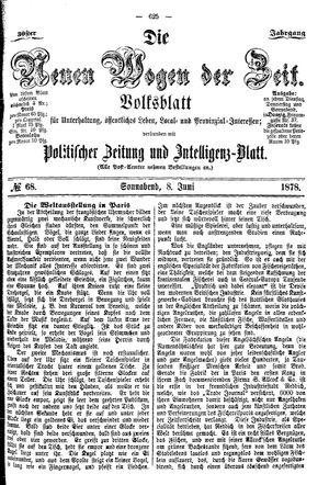 Neue Wogen der Zeit vom 08.06.1878