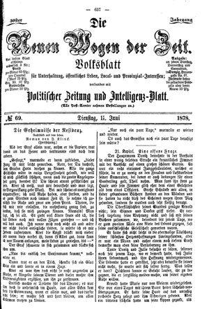 Neue Wogen der Zeit vom 11.06.1878