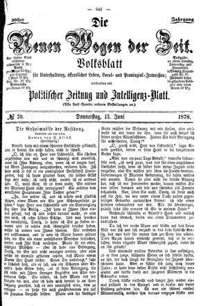 Neue Wogen der Zeit vom 13.06.1878