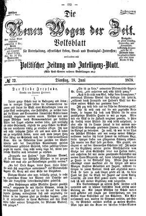 Neue Wogen der Zeit on Jun 18, 1878