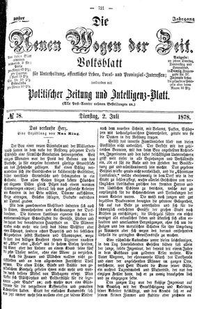 Neue Wogen der Zeit vom 02.07.1878