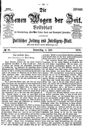 Neue Wogen der Zeit vom 04.07.1878