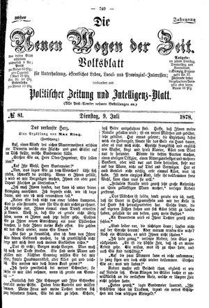 Neue Wogen der Zeit vom 09.07.1878