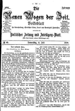 Neue Wogen der Zeit vom 11.07.1878
