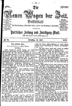 Neue Wogen der Zeit vom 16.07.1878