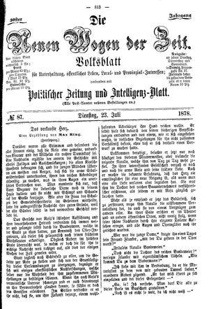 Neue Wogen der Zeit on Jul 23, 1878