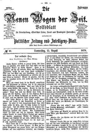 Neue Wogen der Zeit on Aug 15, 1878
