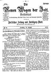 Neue Wogen der Zeit (20.08.1878)