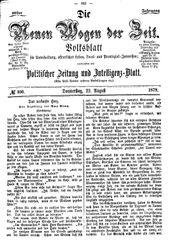 Neue Wogen der Zeit (22.08.1878)